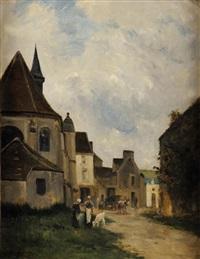 rue de village en pays de caux, normandie by stanislas lépine