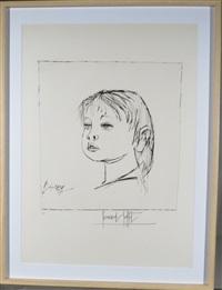 portrait d'enfant by bernard buffet