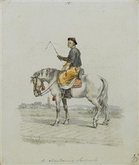 a mandarin's servant on horseback by william alexander