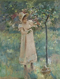 the plum tree by theodore robinson