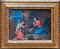 l'adoration à la crèche by french school (17)