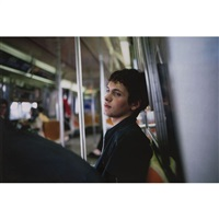 simon in the subway, new york by nan goldin