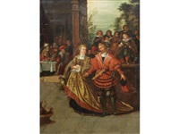 elegant figures dancing in an interior by frans francken the younger