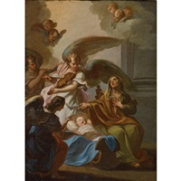 the birth of the virgin by sebastiano conca