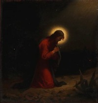 the praying jesus by anton laurids johannes dorph