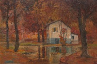 autumn landscape by anthony thieme