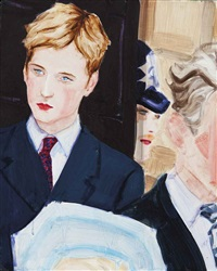 prince william at the queen mother's birthday by elizabeth peyton