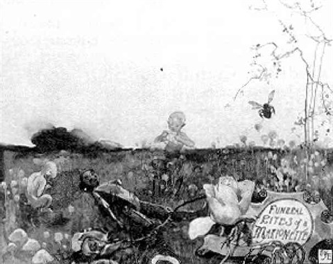 broken marionette and woodland sprites by george wharton edwards