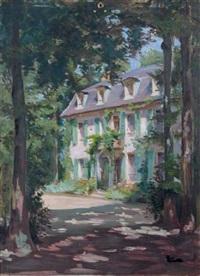 la maison au fond du jardin by maximilien luce