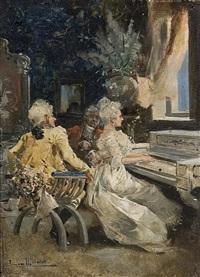 tocando el piano by eugenio lucas villamil