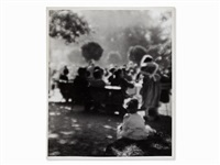 people in the park by josef sudek