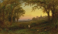 hurstbourne church, lord portsmouth's park, surrey by jasper francis cropsey