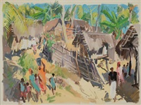 village africain by paul jean anderbouhr