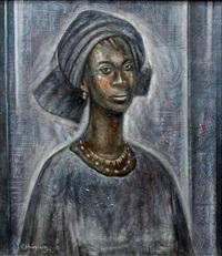 portra it of a woman by kolade oshinowo