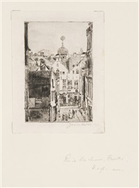 rue du bon secours, bruxelles by james ensor