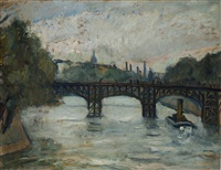 il ponte di ferro sulla senna, parigi by enrico fonda