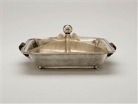 silver divided tray by peter müller-munk