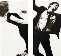 joanna and larry (from men in the cities (set of 2)) by robert longo