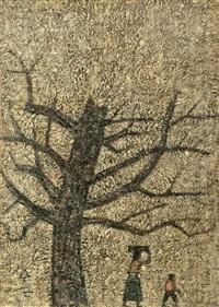 an old tree and a woman by park soo-keun