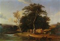 paysages aux grands arbres by jules andré