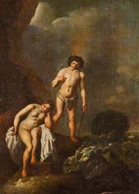 spotkanie bachusa i ariandy na wyspie dia (naksos) by jan van noordt