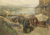market day, roundstone by kate dobbin