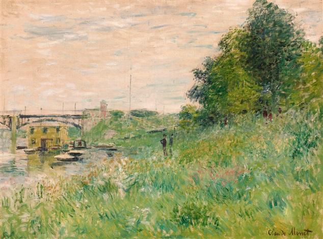 les bords de la seine au pont dargenteuil by claude monet