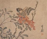 flower and bird by sim sa-jong