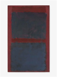 untitled (black on maroon) by mark rothko