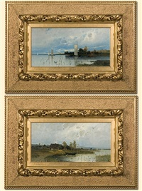 couple of paintings by eduard fischer