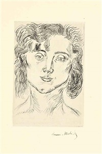 cinquante dessins (album of 1 w/title, justif. & text by charles vildrac) by henri matisse