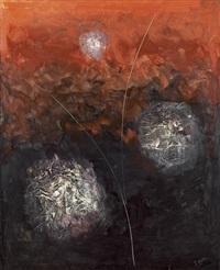composition en rouge et noir by georges adrien (dubreuil) breuil
