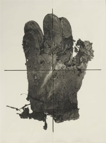 mud glove, new york (in 4 parts) by irving penn