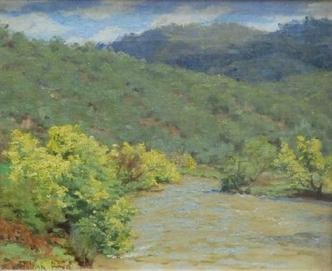wattle by the river by theodore penleigh boyd