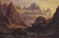 sunset peaks of the horungeme by charles pettitt