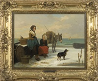 awaiting return from fishing by louis simon cabaillot lassalle