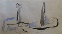composition surréaliste by toyen (maria cerminova)