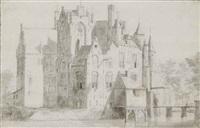 vue du château maurick à vught aux pays-bas by jan abrahamsz beerstraten