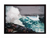 northeaster, after winslow homer by vik muniz