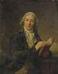 portrait du ministre etienne-louis-hector de joly tenant un livre by antoine vestier