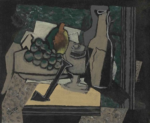 nature morte à la pipe by georges braque