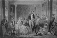 prince albert and his family by ange-louis (janet-lange) janet