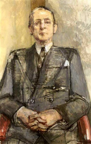 portrait of walter a. brandt by william coldstream