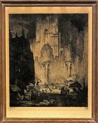 autour du château des comtes by jules de bruycker