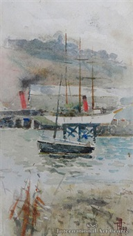 otago harbour by frances mary hodgkins