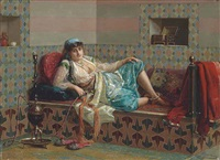 relaxing in the harem by jan baptist huysmans