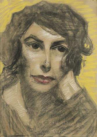 artists wife jadwiga by stanislaw ignacy witkiewicz