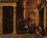 presentazione di gesù al tempio by dirck van delen