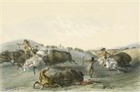 buffalo hunt by george catlin