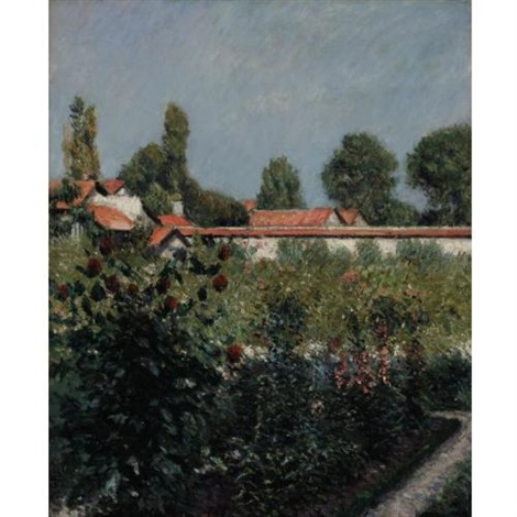 le jardin du petit gennevilliers les toits roses by gustave caillebotte